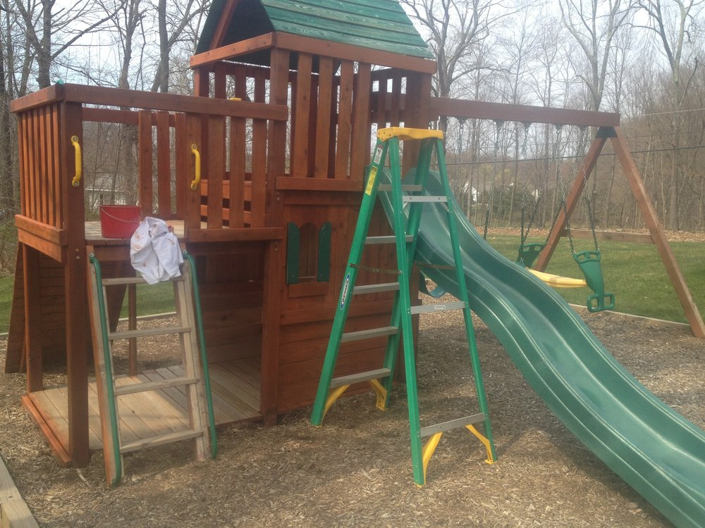 Deck Savers : Powerwash, stain, and seal playscapes in Connecticut