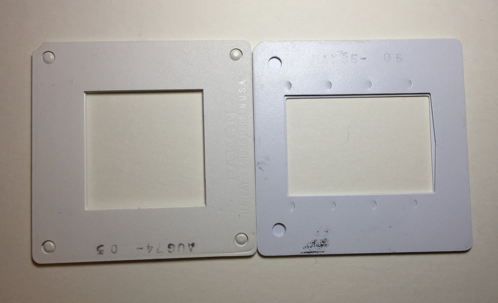 Frame Window Differences: Square (left) versus Rectangle (right)