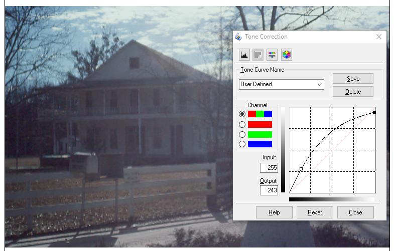 Tone Curve Adjustment (click to enlarge)