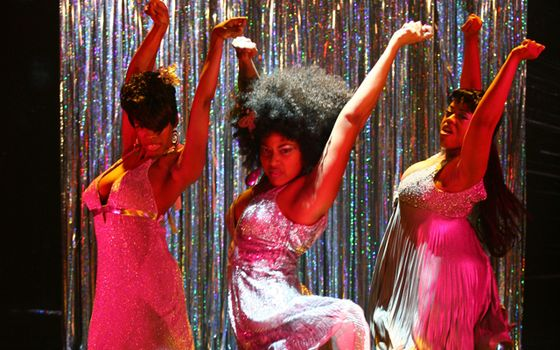 McKenzie Frye (Faith), Rebecca Naomi Jones (Fay) & Angela Grovey (Fate) in WIG OUT!
