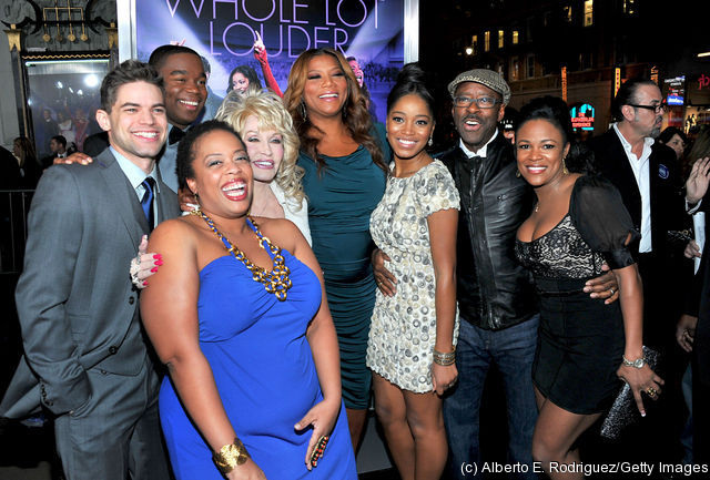 The cast of JOYFUL NOISE at the premiere