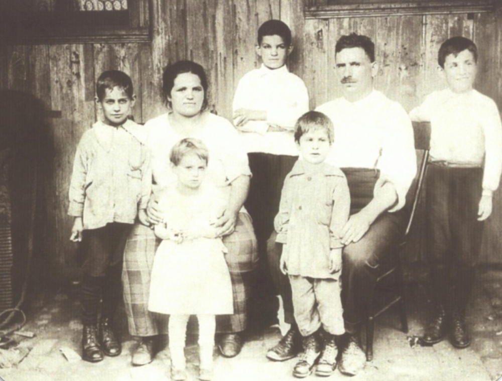 The Mark Clan - Sharon's father Benjamin on the far right Newark, NJ - Circa 1925 Grandma Sarah (Sharon's namesake) pregnant with Sharon's Uncle Jerome; hiding her belly with Aunt Fannie - Sharon's uncles Henry (Harry) far left, Morris in back and Jake in front of Grandpa Nachman (Nathan)