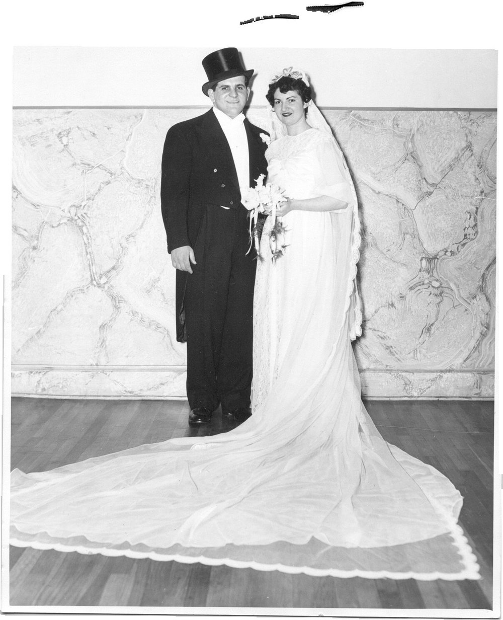 Uncle Jerome Mark at his March 17, 1951 wedding.jpg
