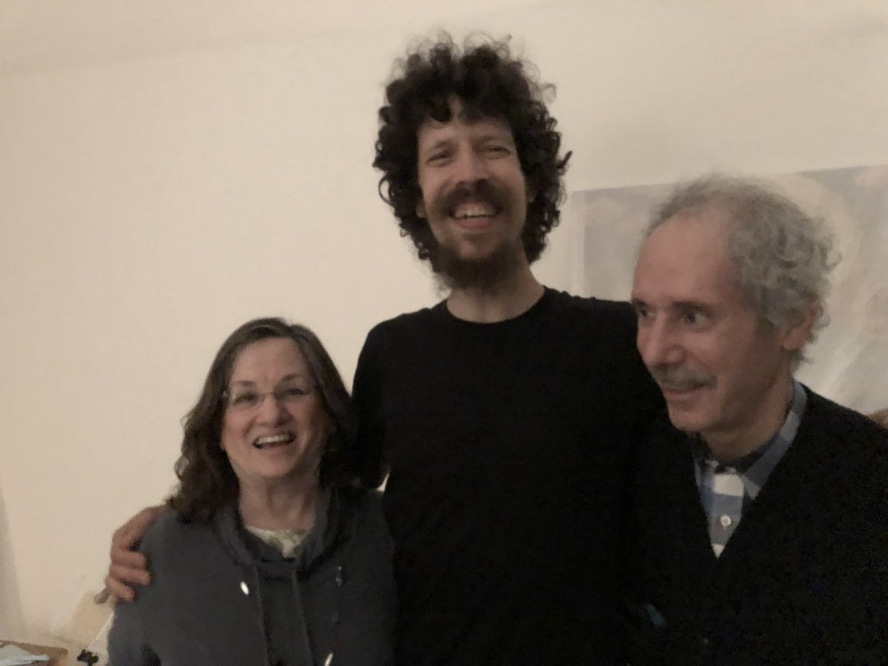 Bret (center) with his Aunt Sharon and Uncle Arnee November 3, 2018 Brooklyn, New York