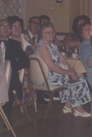 """Anna from the farm"" front and center at our 1975 wedding"