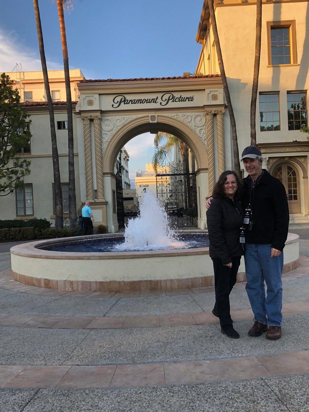 Sharon and Arnee Paramount Lot Hollywood, California January 9, 2019