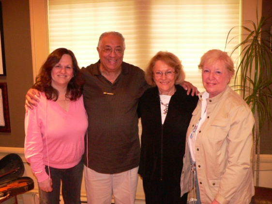 Sharon, Marvin, his cousin Elaine, Sharon's cousin Paula at Sharon and Arnee's home in South Orange, N.J.