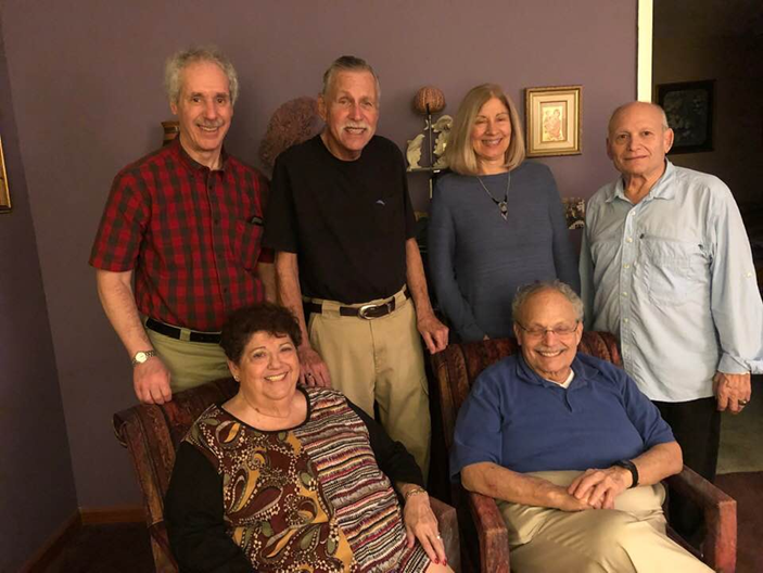 Arnee top left at our first meeting with Jim, Terry and Howard Bregman at the home of Frane and Joel Grossman, Lake Worth, Florida February 14, 2019.
