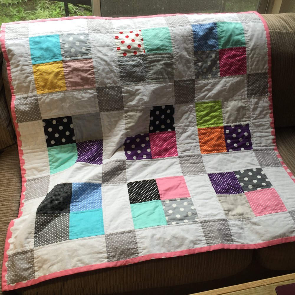 baby quilt for a church family friend.