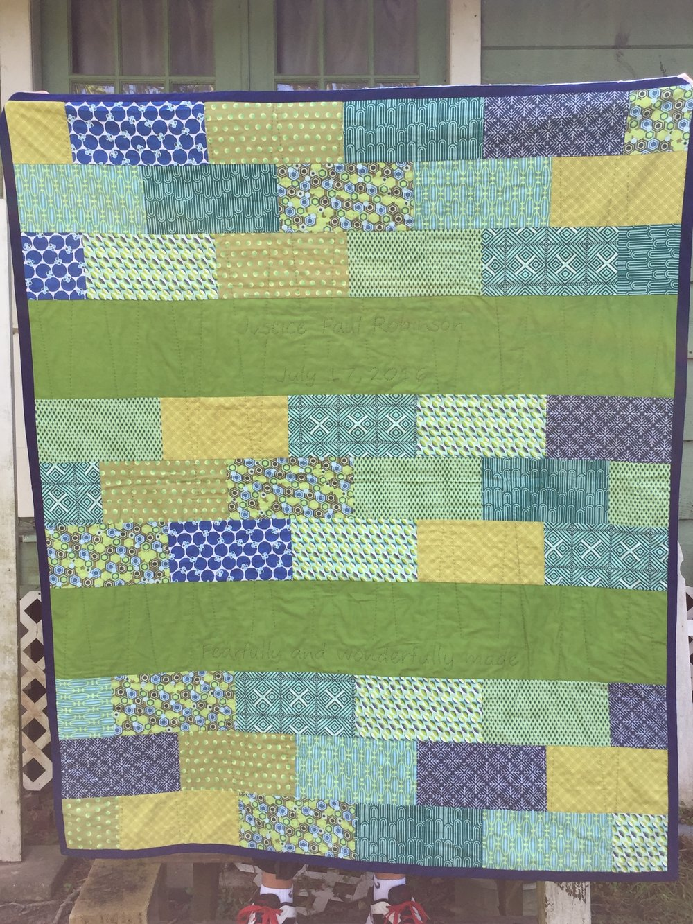 baby quilt for a friend.