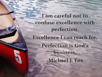 Pure Horse Sense Blog- Canoe at Lake Louise. Quote from Michael J Fox