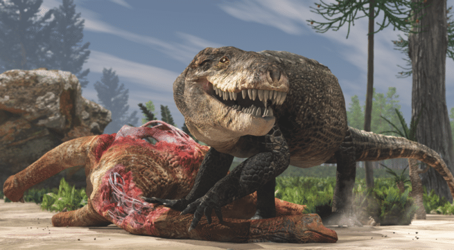This ancient one-ton crocodile had steak knives for teeth