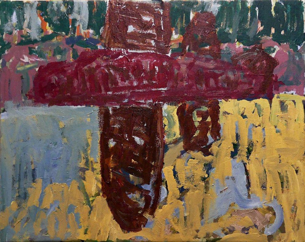 Flight to Venice  Mixed media on canvas 59x75cm  2018