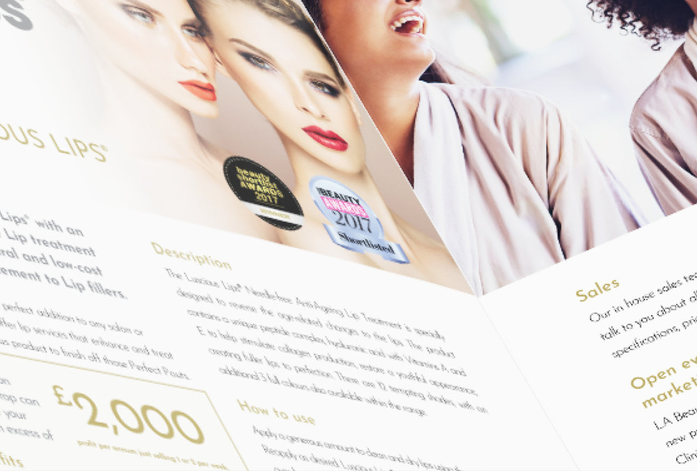 LA BEAUTIFUL PRODUCT BROCHURE