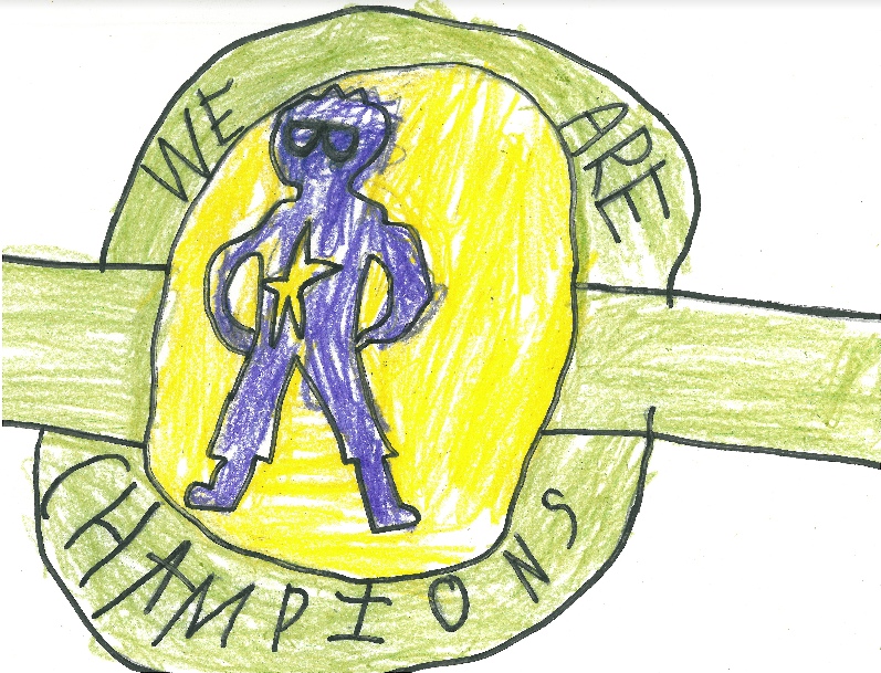 016 - PERTHES CHAMPIONSHIP BELT by Austin Clark (age 9) in Hudson, Wisconsin, USA