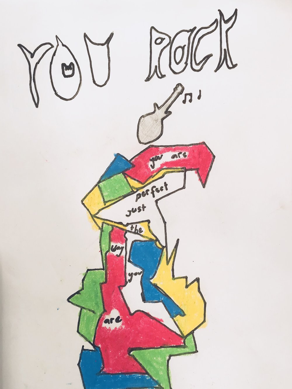 020 - YOU ROCK by Lydia Jeremijenko (age 9) in Gold Coast, Australia
