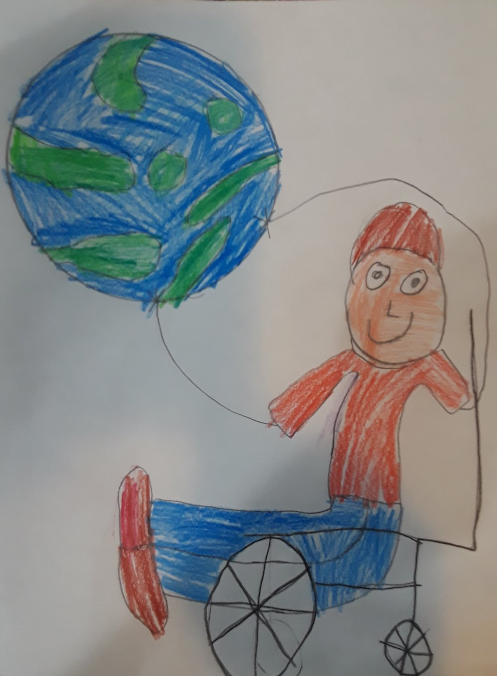 025 - THE WORLD IS YOURS by Joshua Hernandez (age 7) in Waddell, Arizona, USA