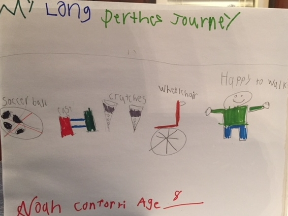 009 - MY LONG PERTHES JOURNEY by Noah Conforti (age 8) in Enid, Oklahoma, USA