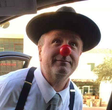 "Jim Hayes, Age 51, Corona De Tucson, AZ, Perthes (left hip), ""Jimmy The Clown"""