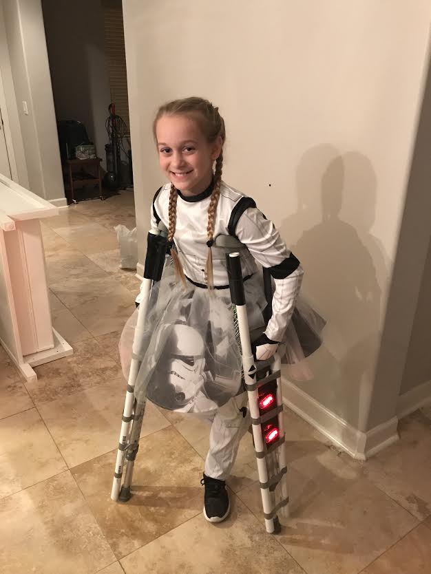 "Copy of Rileigh Bennion, Age 11, Murietta, CA, Perthes (right), ""Storm Trooper"""