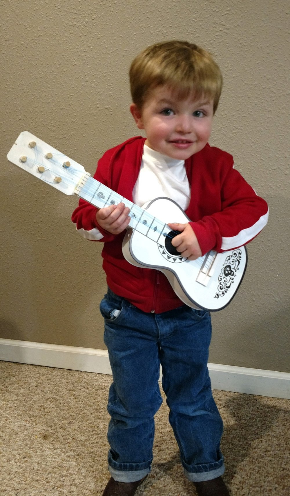 """Copy of Bryar Watkins, Age 3, Mountainburg, AR, Perthes (left hip), """"Miguel from Coco"""""""