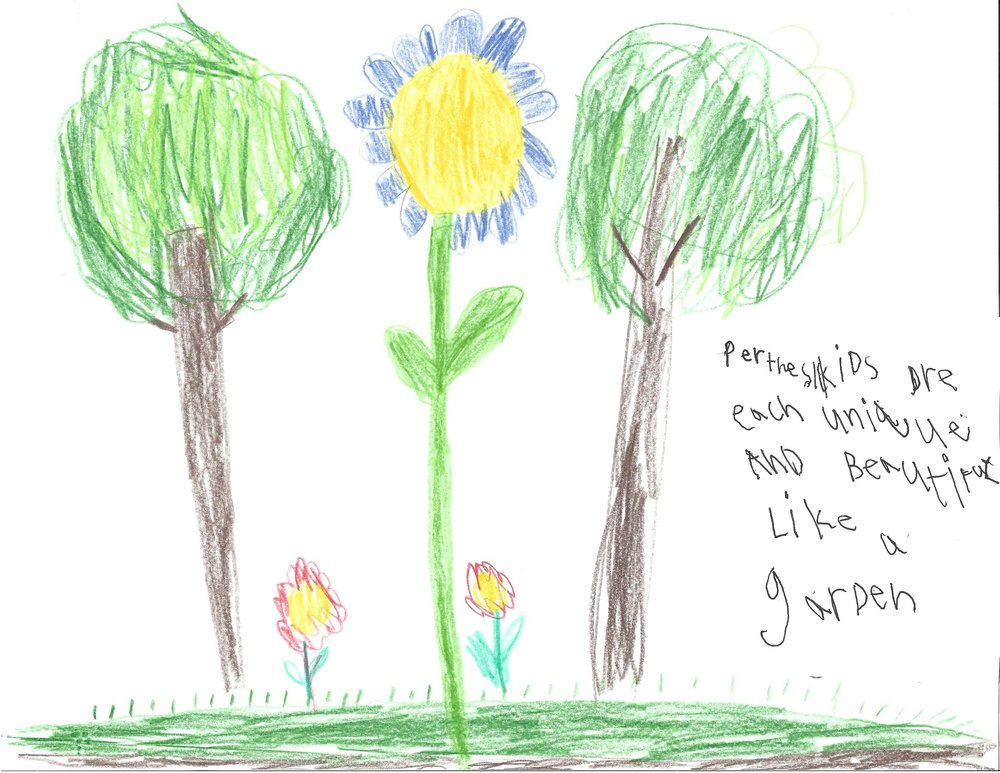 012 - PERTHES GARDEN by Brynn McNeal (age 7) in Grafton, Wisconsin, USA