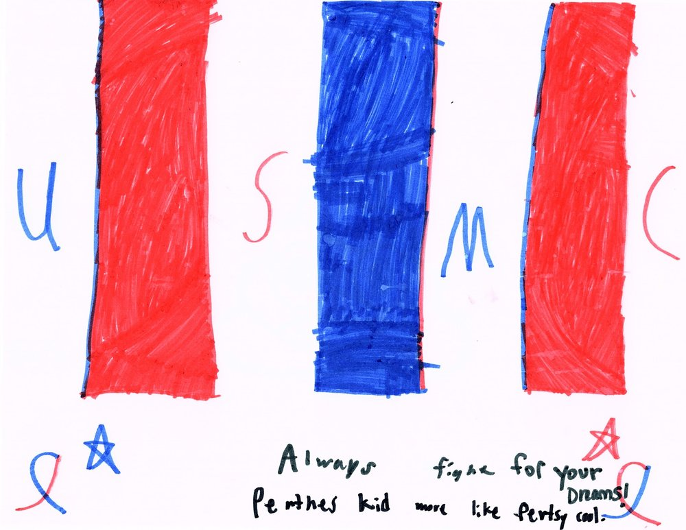 015 - FIGHT FOR YOUR DREAMS by Jason Cantu (age 9) in Jacksonville, North Carolina, USA