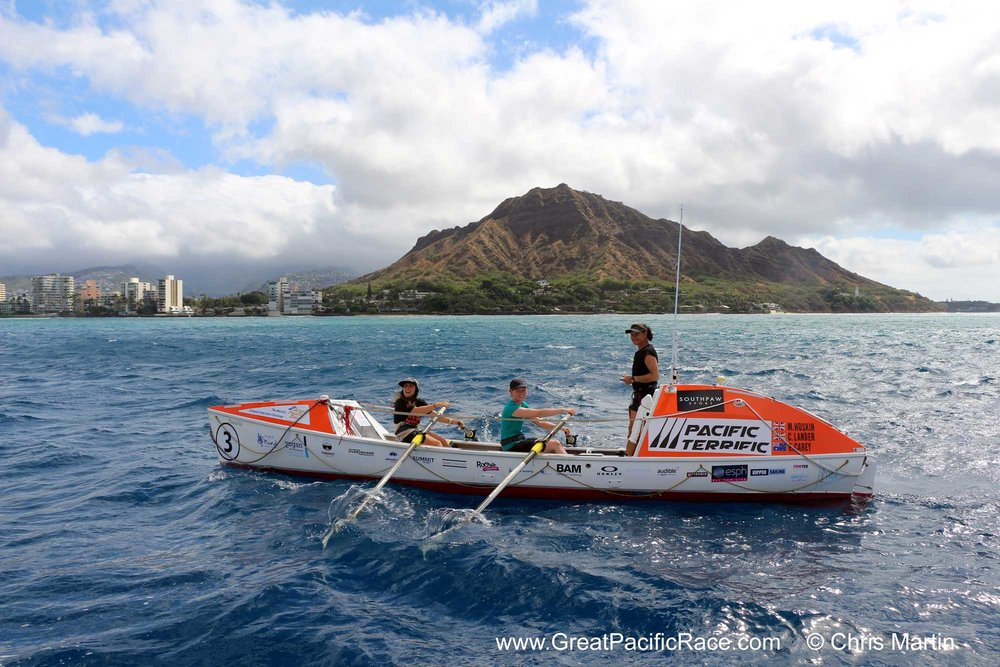 Approaching the finish line after 62 days at sea, what a feeling it must be to arrive in the cradling arms of Hawai'i.