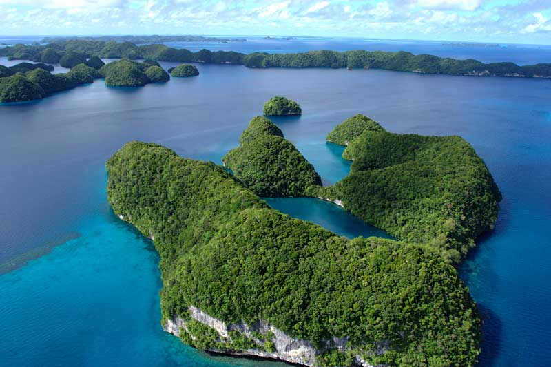 The Rock Islands of Palau, which has the world's strictest national standard for sunscreen products.
