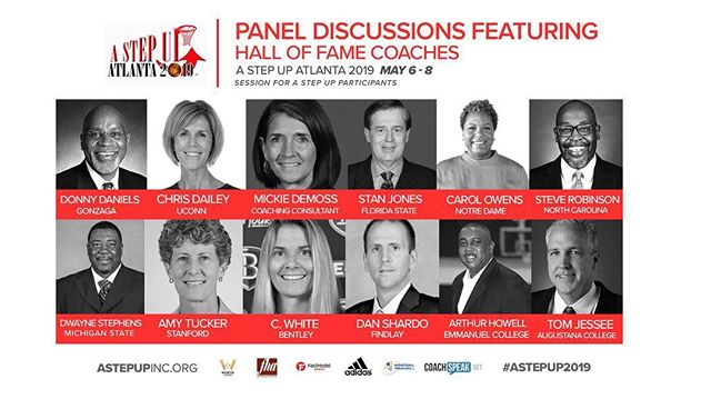 You know about our Inaugural Hall of Fame class right? But did you know that you all would be able to learn from them as well? ✍🏽👀 WE ARE HAPPY TO ANNOUNCE that our #AStepUpHOF19 class will be featured in panel discussions at @AStepUpFHA  Coaches, come learn from the best!