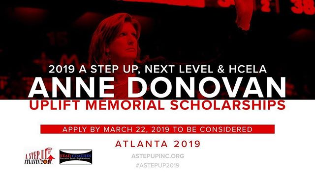 Today is the LAST DAY to apply for a scholarship to #AStepUp2019... Apply by MIDNIGHT! Hope to see you in Atlanta!