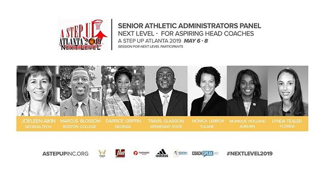 The answers that you need to take your career to the NEXT LEVEL are in the minds of this panel!  Meet the SENIOR ATHLETIC ADMINISTRATORS who be in ATL with us for the Next Level Symposium.  Do you have 7+ years of college coach experience? Join us for #NextLevel2019 More to come!