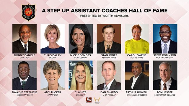 Started off Day 2 with our inaugural Assistant Coaches Hall of Fame induction! 🏆  We are so excited to honor these outstanding coaches who have done SO MUCH for our game!  Congratulations to all of our #AStepUpHOF19 inductees!