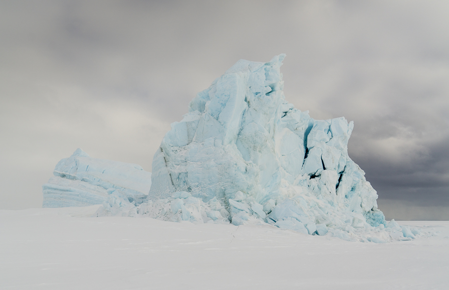 A grounded iceberg, this is big, it's hard to get a scale on it, but we estimated that there is about 900 feet of iceberg below the water line.