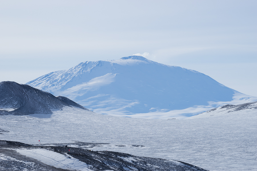 Erebus Volcano from Arrival Heights