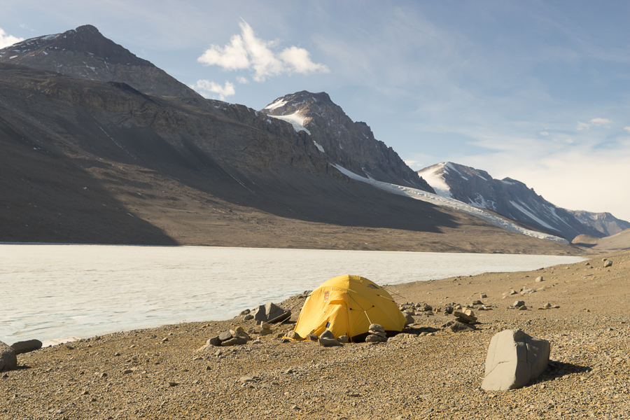 My new home for a few days. These tents can really take high winds as I found out last night.