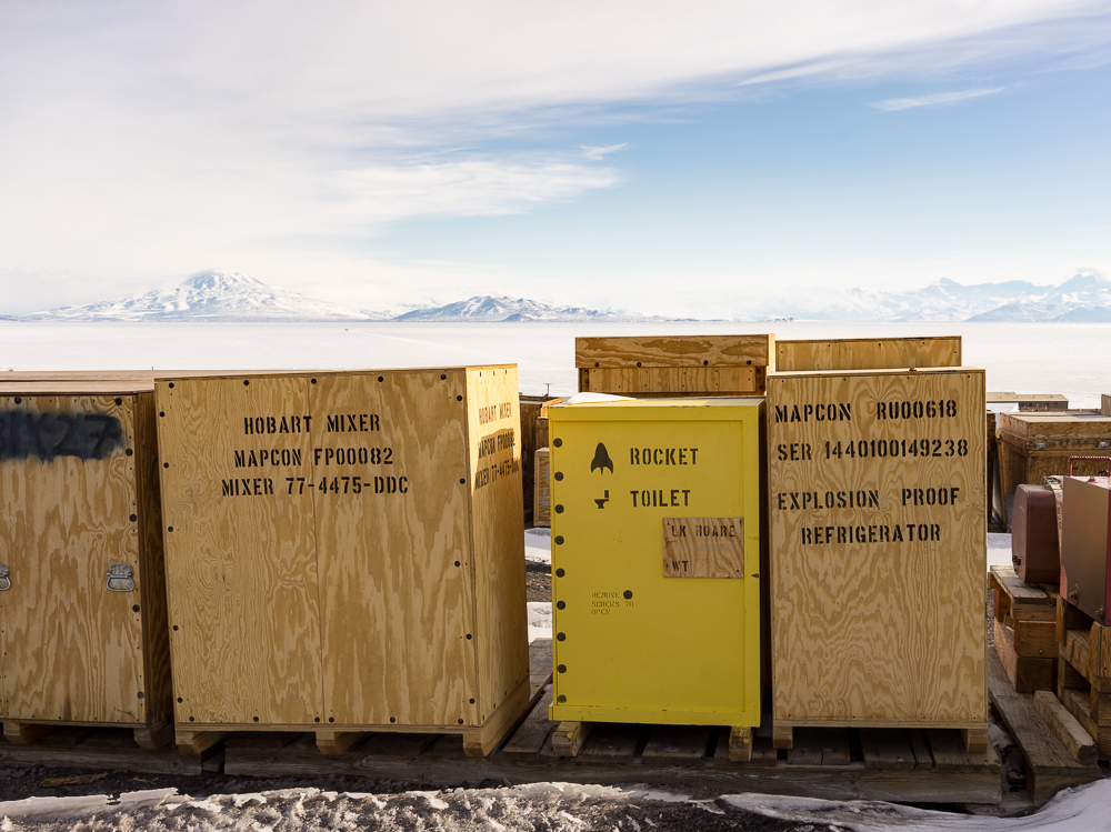 McMurdo is pretty much a hub for logistics for all the field work that happens all over Antarctica, so there are yards full of cargo ready to go into the field