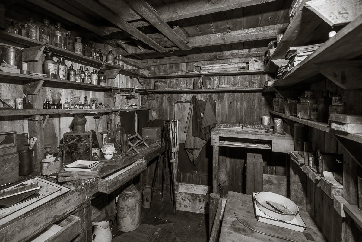 Ponting's darkroom.