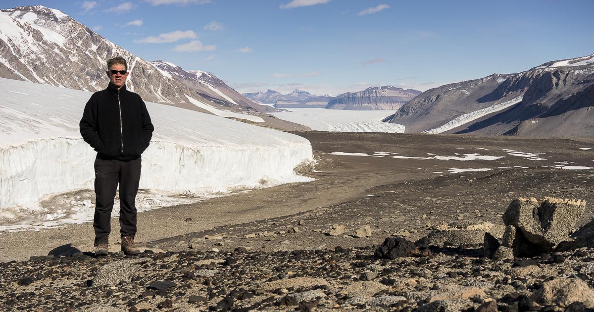 Selfie above Sollas Glacier