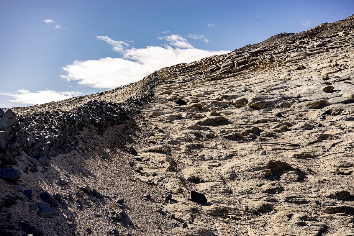 Not sure what this feature is called, but looks to be volcanic rock.