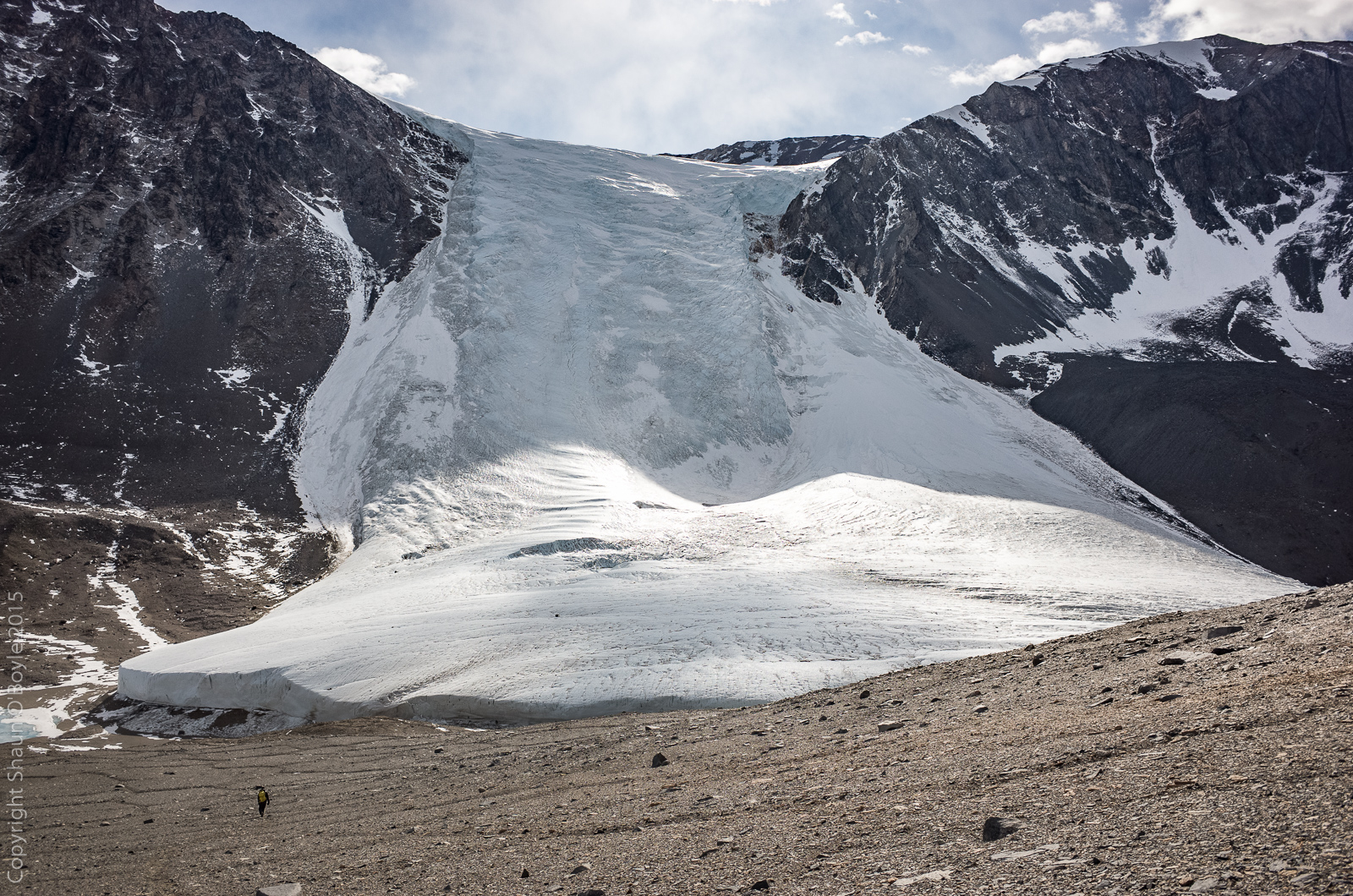 Seuss Glacier while descending from Nussbaum Riegel and heading toward Lake Hoare