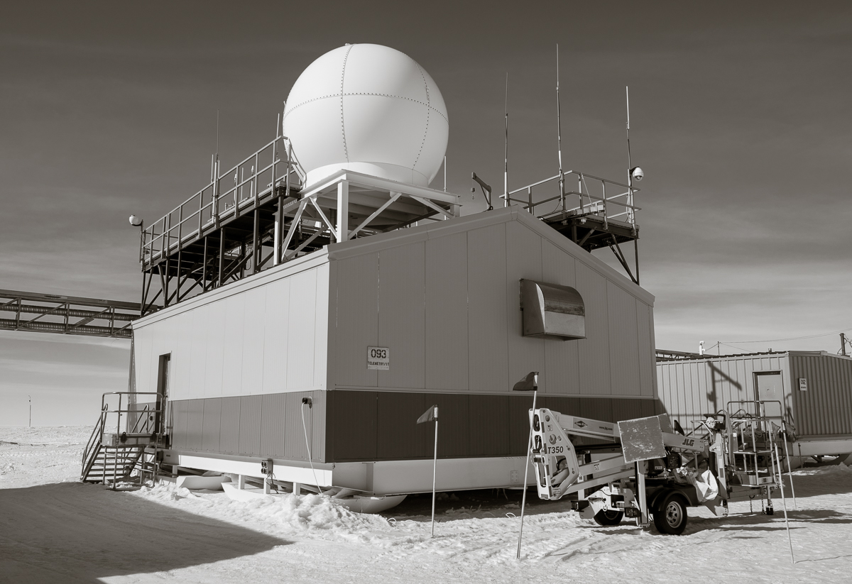 Telemetry Building, used to track the balloon during the initial phase of the flight.