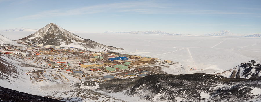McMurdo from Arrival Heights giving a sense of the sprawl of the current station
