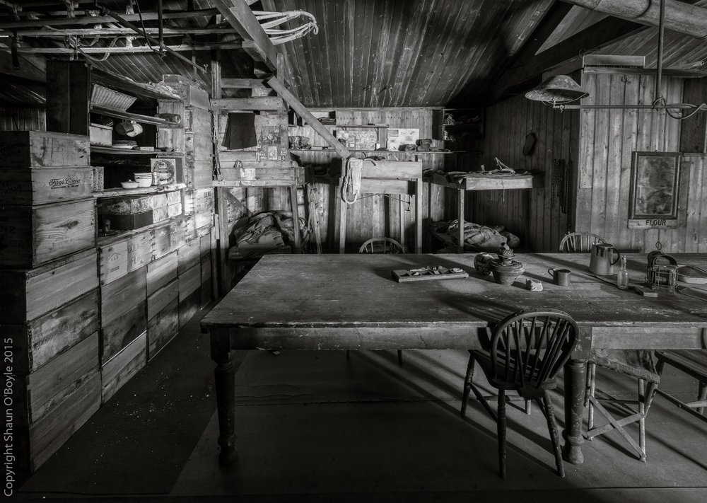 Wardroom Table and the Tennaments Bunks, Cape Evans Hut