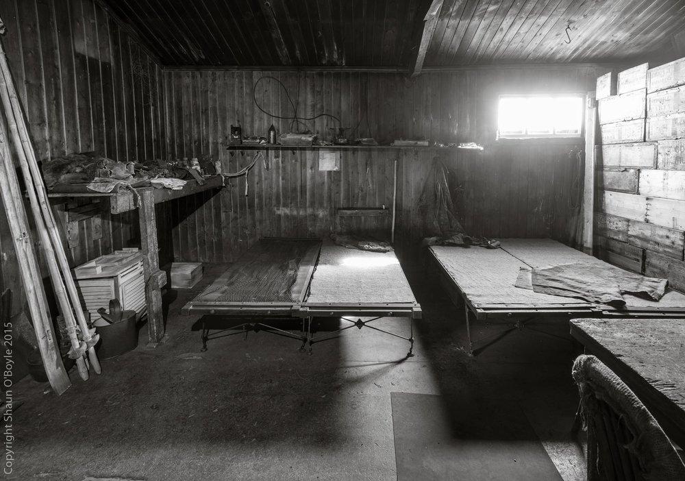 Demitri, Forde, Keohane, Crean and P.O. Evans Mess Deck cots.
