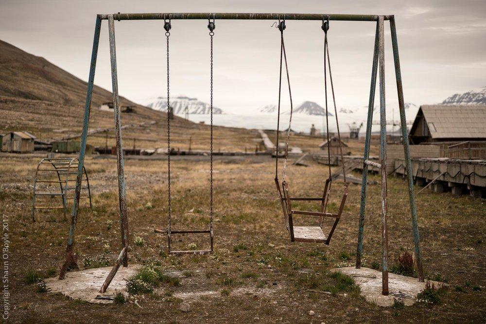 Playground, Pyramiden, Svalbard