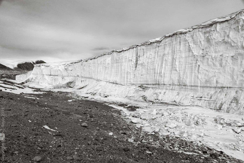 Commonwealth Glacier face