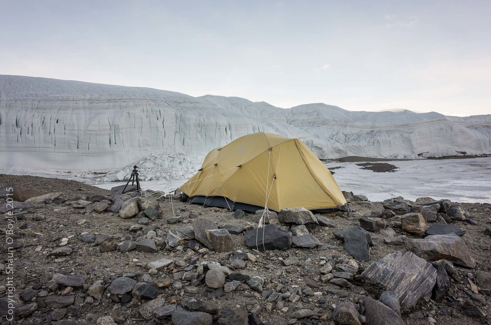 Home sweet home for three nights at Lake Hoare, with the Canada Glacier groaning and popping in background