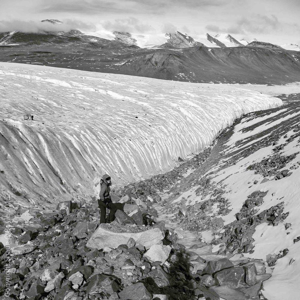 Lateral moraine of the Canada Glacier, Taylor Valley, Antarctica