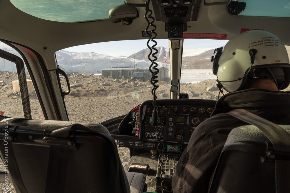 After five nights in the Taylor Valley it is time for the flight back to McMurdo via Marble Point.